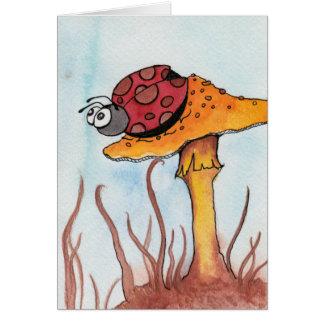 Lieveheersbeestje en Paddestoel Briefkaarten 0