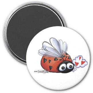 Lieveheersbeestje lovebug ronde magneet 7,6 cm