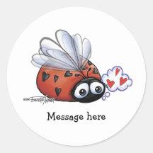 Lieveheersbeestje lovebug stickers