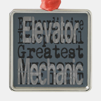 Lift Mechanische Extraordinaire Zilverkleurig Vierkant Ornament