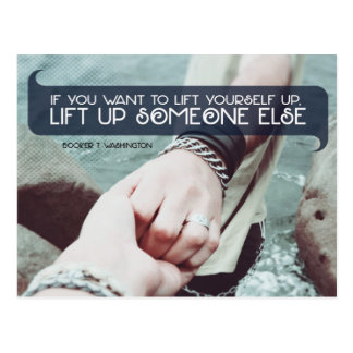 Lift omhoog iemand anders briefkaart