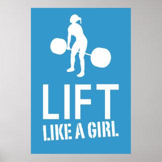Lift zoals een Meisje - de Inspiratie van het Poster