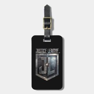 Liga | Metaal van de rechtvaardigheid Schild JL Bagagelabel