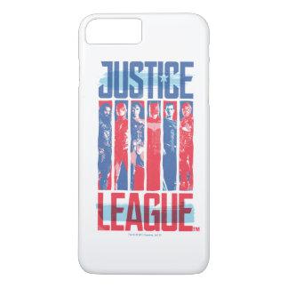 Liga | van de rechtvaardigheid het Blauwe & Rode iPhone 8/7 Plus Hoesje