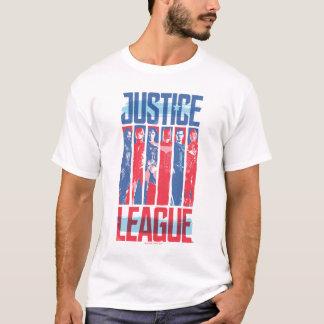 Liga | van de rechtvaardigheid het Blauwe & Rode T Shirt