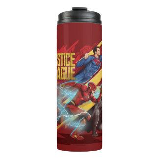 Liga | van de rechtvaardigheid Superman, Flits, & Thermosbeker