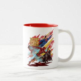 Liga | van de rechtvaardigheid Superman, Flits, & Tweekleurige Koffiemok