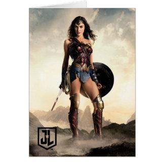 Liga | van de rechtvaardigheid Wonder Vrouw op Kaart