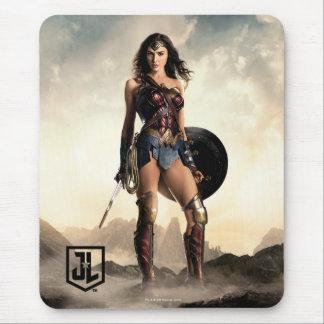 Liga   van de rechtvaardigheid Wonder Vrouw op Muismatten