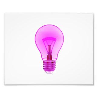 lightbulb het gloeien paarse macht filament.png fotoafdruk