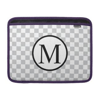 LightGreyCheckerboard Beschermhoes Voor MacBook Air