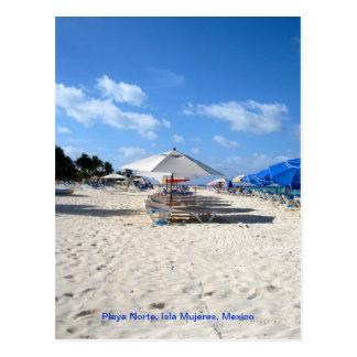 Ligstoelen op Isla Mujeres Briefkaart