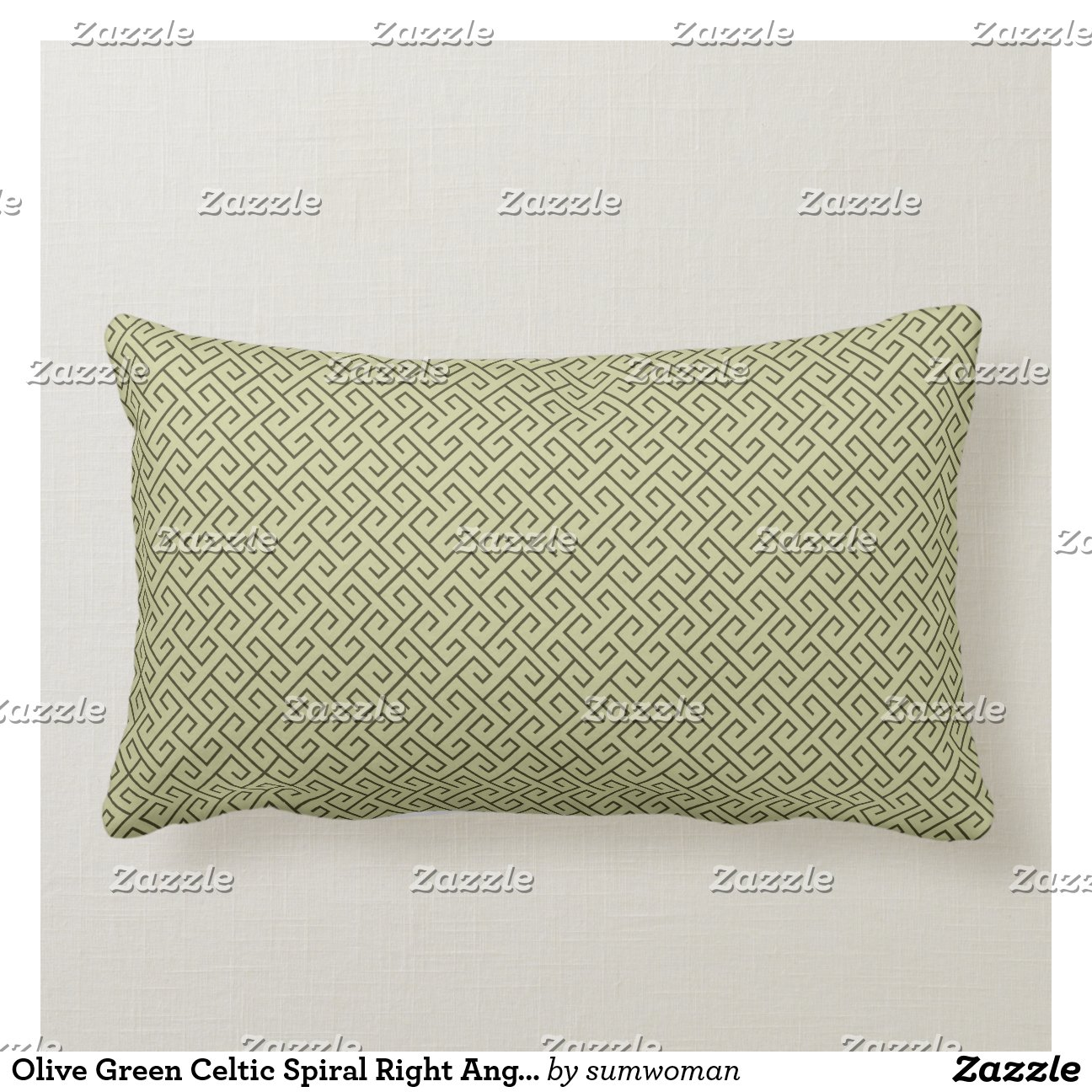 Lijnen van de rechte hoek van de olijf de groene k sierkussen zazzle - Sofa van de hoek uitstekende ...