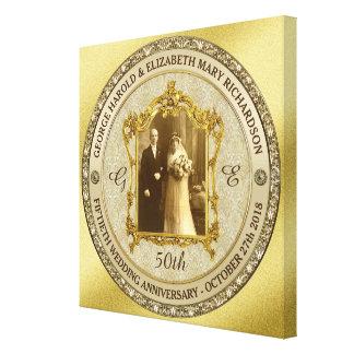 Lijst van de Foto van het Jubileum van de gouden Canvas Print