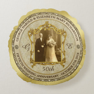 Lijst van de Foto van het Jubileum van de gouden Rond Kussen