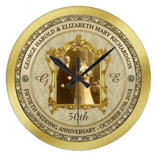 Lijst van de Foto van het Jubileum van de gouden Ronde Klok Large