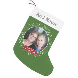Lijst van de Stip van de foto het het Rode Groene Kleine Kerstsok