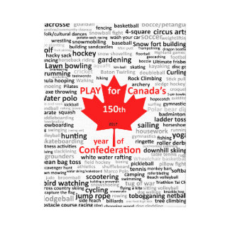 Lijst van het Spel van Canada de 150ste op Canvas
