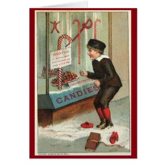 Lik me Grap van Kerstmis van de Humor van het Riet Kaart