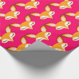 Lil Foxie - het Leuke Verpakkende Document van het Cadeaupapier