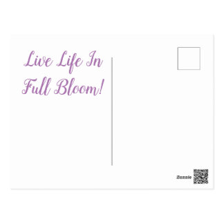 Lila bloem-Briefkaart Briefkaart