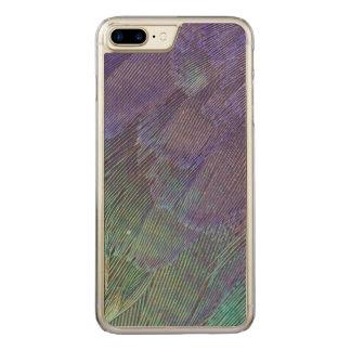 Lila-Breasted de veren van de Rol Carved iPhone 7 Plus Hoesje
