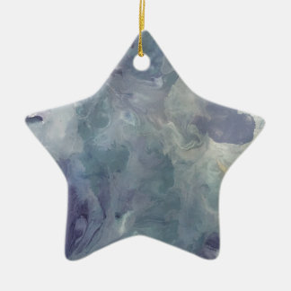 Lila Kou Keramisch Ster Ornament