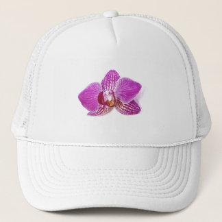 Lila phalaenopsis het bloemenaquarel schilderen trucker pet