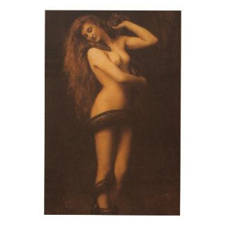 Lilith - het Houten Art. van de Muur Hout Afdruk