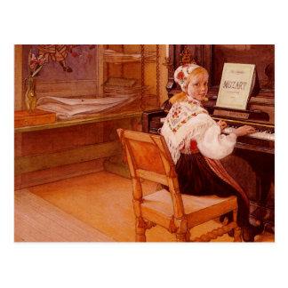 Lillanna die Mozart spelen Briefkaart