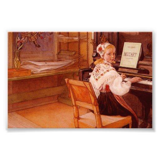 Lillanna die Mozart spelen Foto Afdrukken
