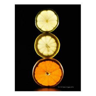 Limoen, Grapefruit, Citroen, Fruit, Zwarte Briefkaart