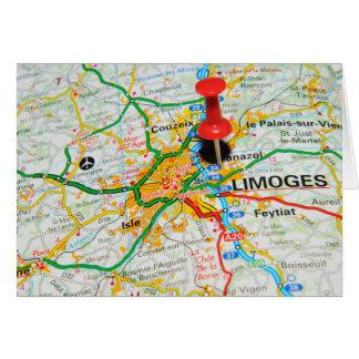 Limoges, Frankrijk Kaart