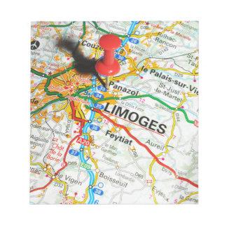 Limoges, Frankrijk Notitieblok