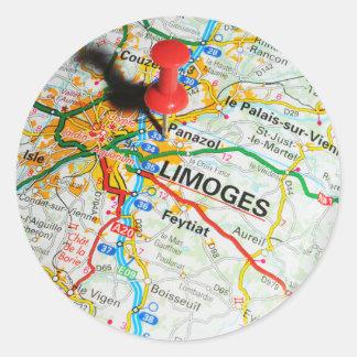 Limoges, Frankrijk Ronde Sticker