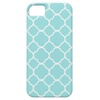 Limpet Shell Blauwe Quatrefoil Barely There iPhone 5 Hoesje