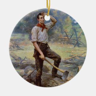 Lincoln de Splitser van het Spoor door Jean L. Rond Keramisch Ornament