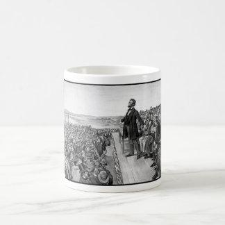 Lincoln die het Adres Gettysburg leveren Koffiemok