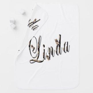 Linda, Naam, Logo, de Witte behaaglijk Deken van Inbakerdoek