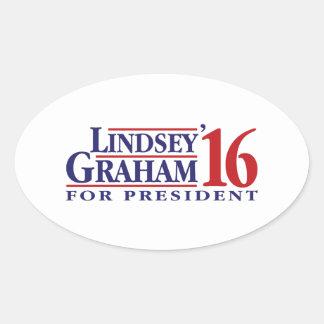 Lindsey Graham voor President Ovale Sticker