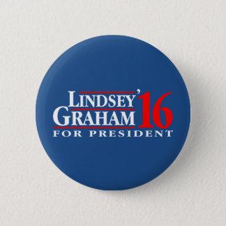 Lindsey Graham voor President Ronde Button 5,7 Cm