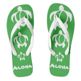 "LineA ""Aloha"" Witte Honu Teenslippers"