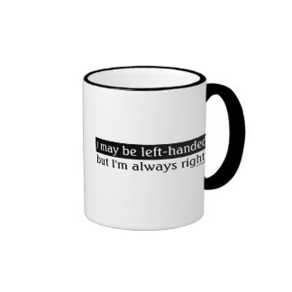 Linkshandige mensen koffie mok