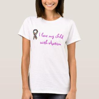 lint, houd ik van mijn kind met Autisme T Shirt