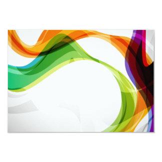 Linten van de Oneindigheid & van de Regenboog van 8,9x12,7 Uitnodiging Kaart