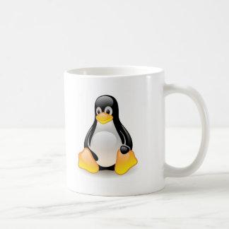 Linux-pinguïn-Tux Basic Witte Mok