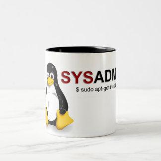 Linux Sys Admin Tweekleurige Mok