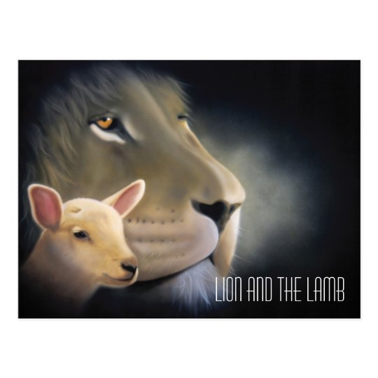 Lion and the Lamb Briefkaart