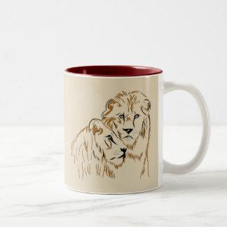 Lions Tweekleurige Koffiemok