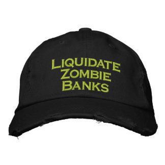 Liquideer de Banken van de Zombie Geborduurde Pet